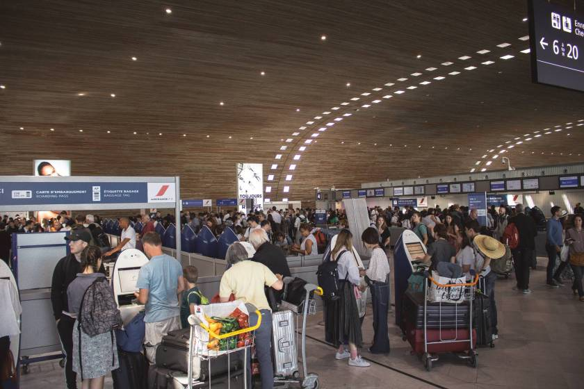 photo of people in airport