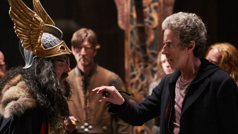The Doctor having a little both with local Odin impersonator