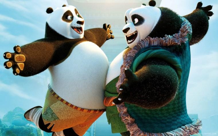 Po (Jack Black) & Li Shan (Bryan Cranston)
