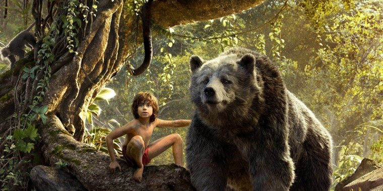 Mowgli (Neel Seethi) and Baloo (Bill Murray) (The Jungle Book, Walt Disney Pictures)