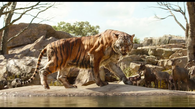 Idris Elba's huge and haunting Shere Khan (The Jungle Book, Walt Disney Pictures)