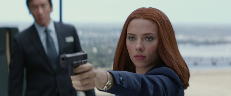 The badass Natasha Romanoff/Black Widow (Scarlett Johansson)