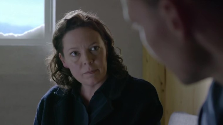 Angela Burr (Olivia Colman) hungers for justice. (The Night Manager, BBC)