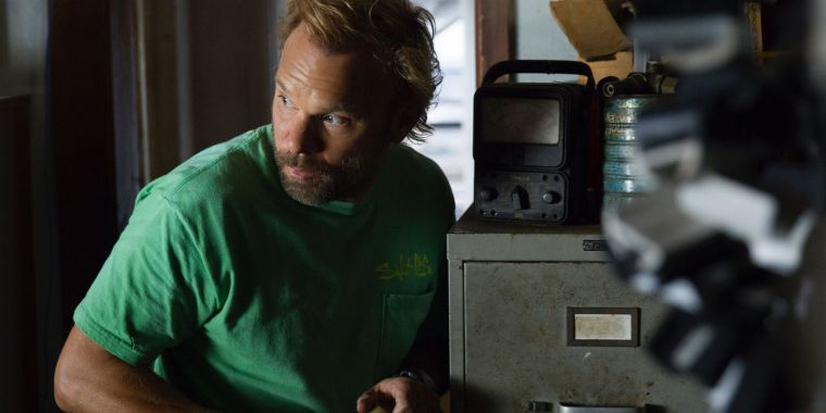 In every scene, Kevin (Butz) looks like about flip out (Bloodline, Netflix)