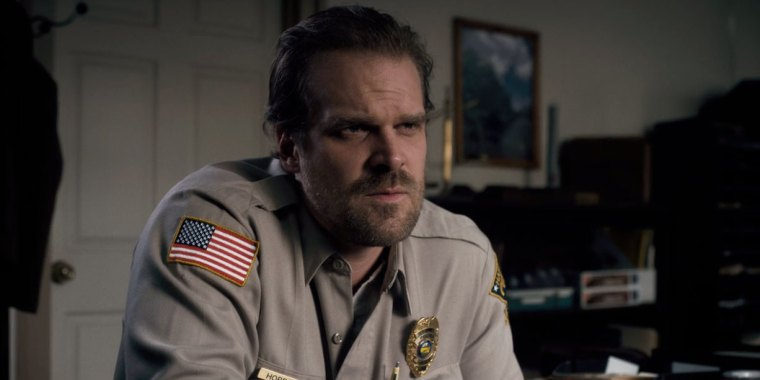 The good old Chief Hopper (Harbour) (Stranger Things, Netflix)