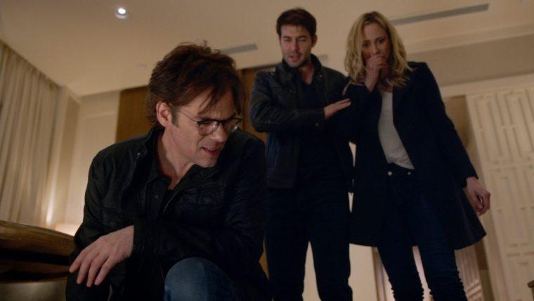 Mitch Morgan (Billy Burke), Jackson Oz (James Wolk) and Chloe Tousignant (Nora Arnezeder) (Zoo, CBS)