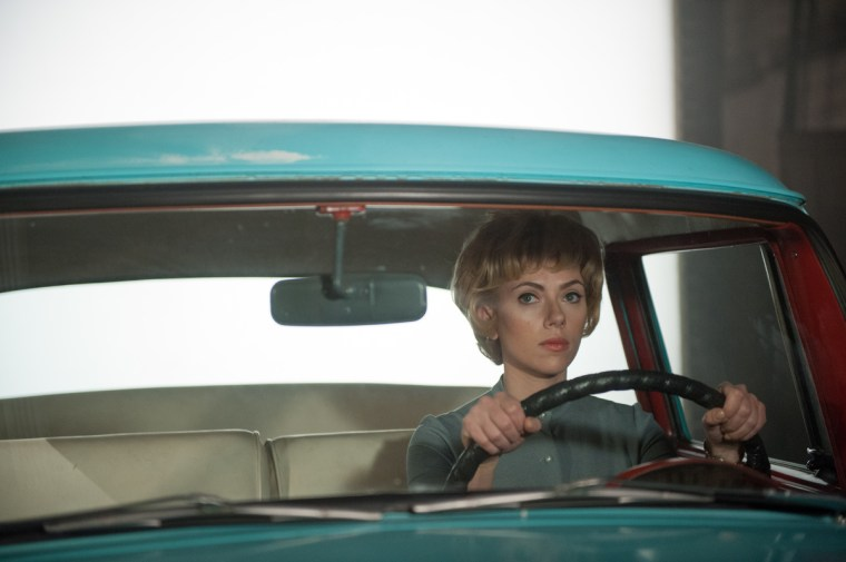 Scarlett Johansson plays leading lady, Janet Leigh (Hitchcock, Fox Searchlight Pictures)