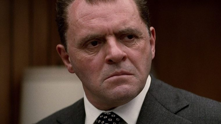 Anthony Hopkins plays Richard Nixon to perfection (Nixon, Buena Vista Pictures)
