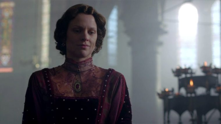 The bitch is back. Veerle Baetens as Margaret of Anjou (The White Queen, BBC One)