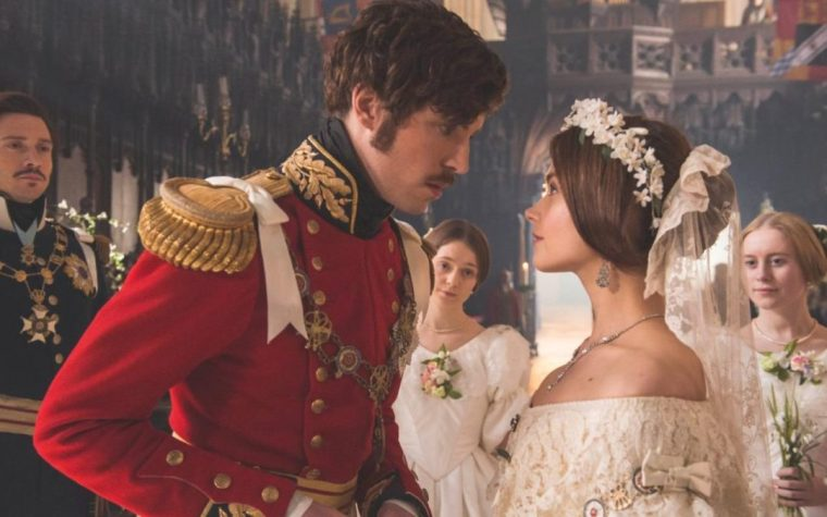 Prince Albert (Tom Hughes) with Jenna Coleman's Queen Victoria (Victoria, ITV)
