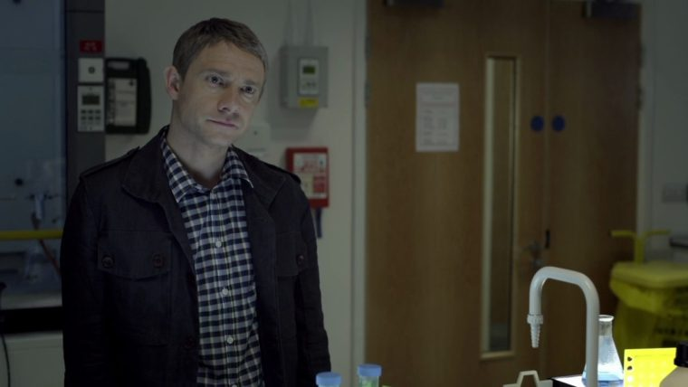 Martin Freeman plays Doctor John Watson in BBC's modern take on the Conan Doyle stories (Sherlock, BBC One)