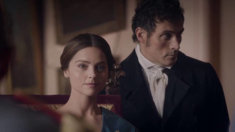 Jenna Coleman plays Queen Victoria along side with a consistently scene-stealing Rufus Sewell as Lord Melbourne (Victoria, ITV)