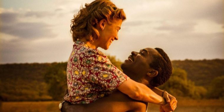 Ruth (Rosamund Pike) and Seretse (David Oyelowo) in Amma Asante's new histroical drama (A United Kingdom, BBC Films)