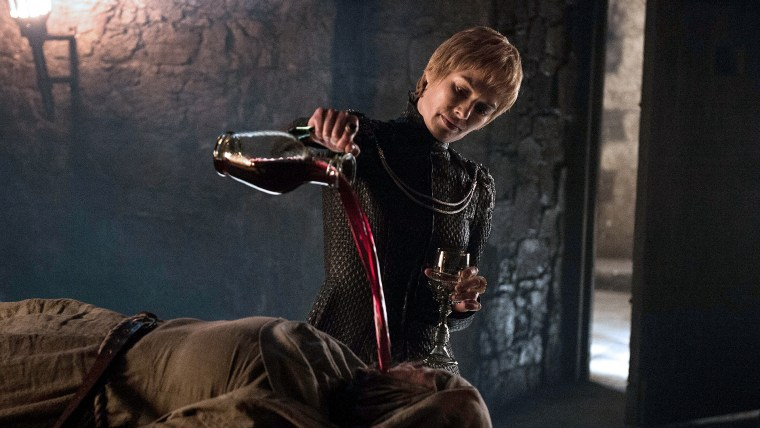 Cersei Lannister (Lena Headey) being Cersei Lannister; look at me, I have no fucks to give (Game Of Thrones, HBO)