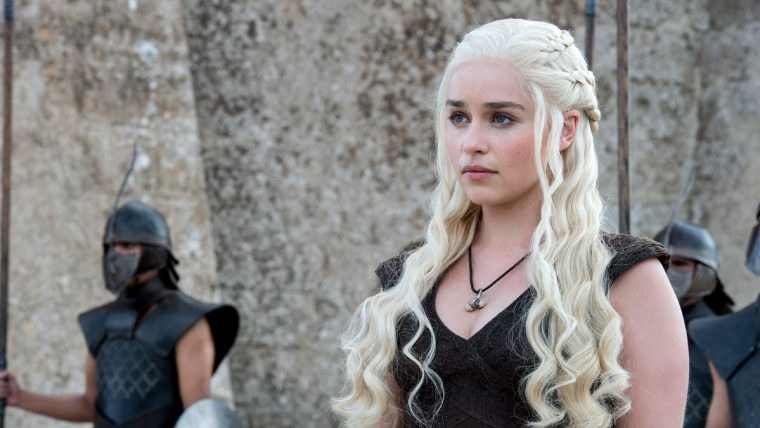 Emilia Clarke as the Dragon Queen, Daenerys Targaryen in HBO's fantasy drama (Game Of Thrones, HBO)