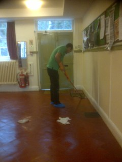 Quarry Tiles Cleaned Applying Sealer in 2012