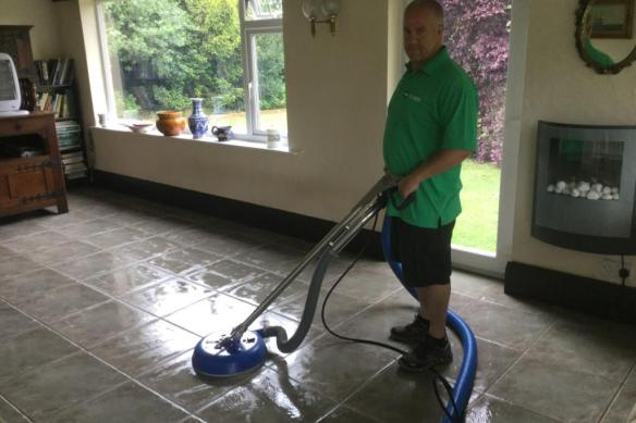 Cleaning Ceramic Tile and Grout During Cleaning Rushden Sun Room