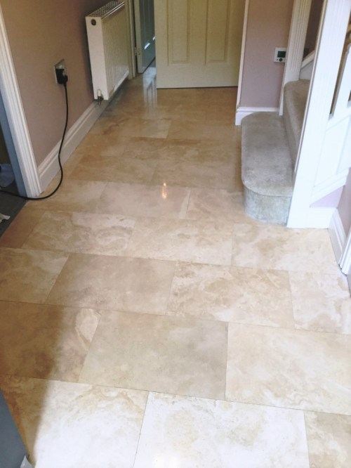 Pitted Travertine After Filled Polished Rushden