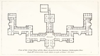 1867 Floor plan of Northampton State Hospital