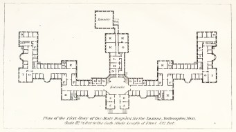 1867 Floor plan of Northampton State Hospital