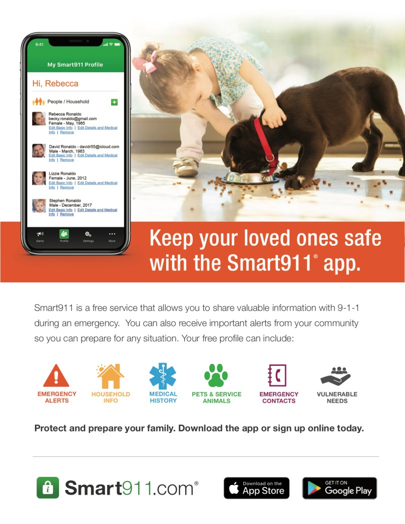 Smart911-Flyer-GirlandPuppy
