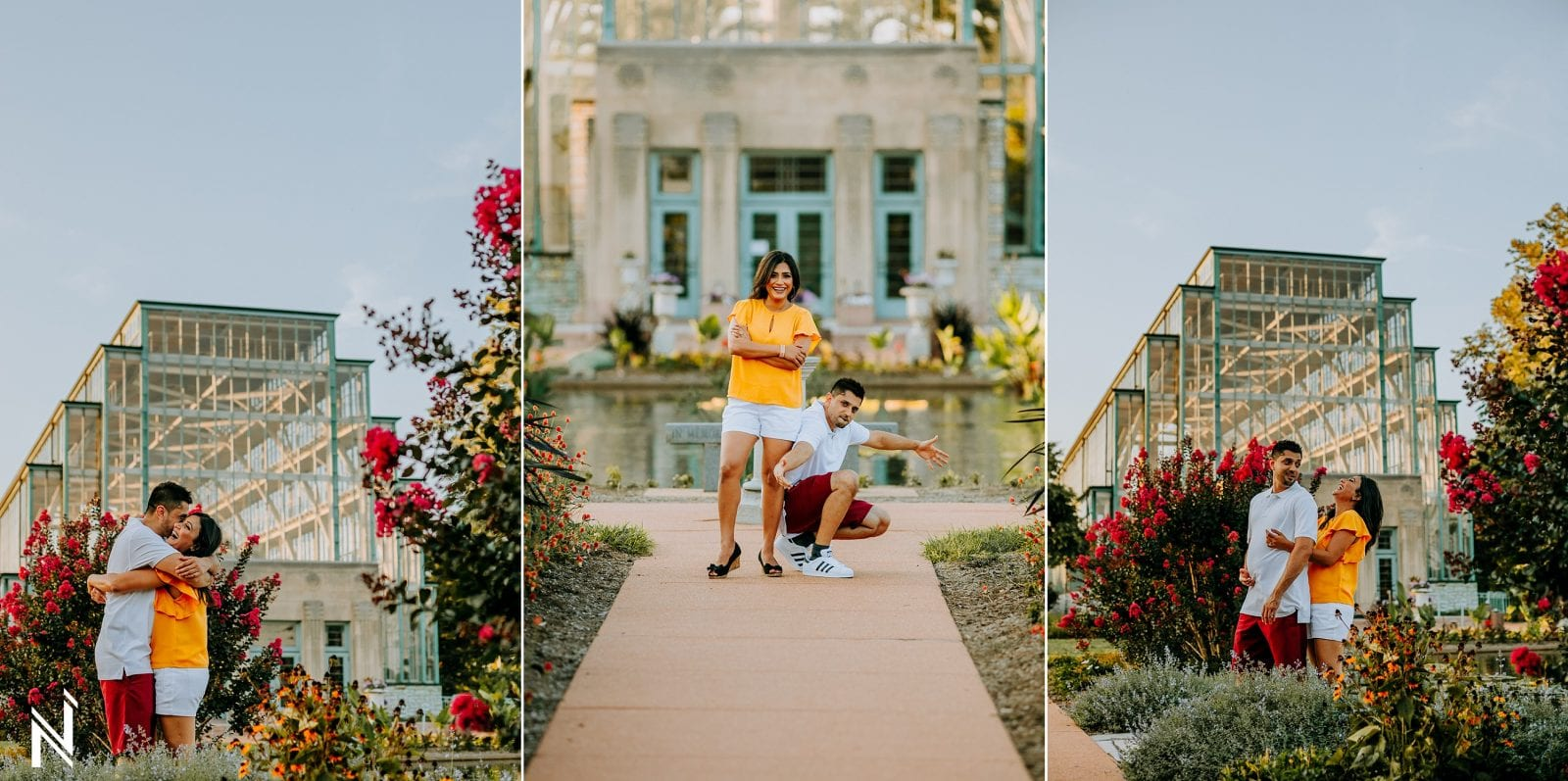 Indian engagement photography at Jewel Box in Forest Park