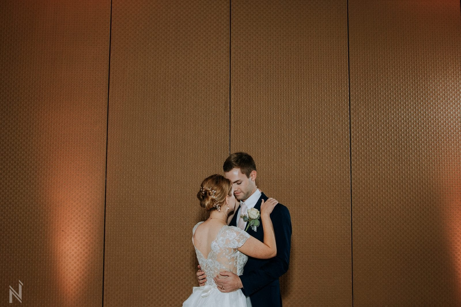 bride and groom first dance at st. Louis Zoo wedding reception photography at Lakeside Cafe