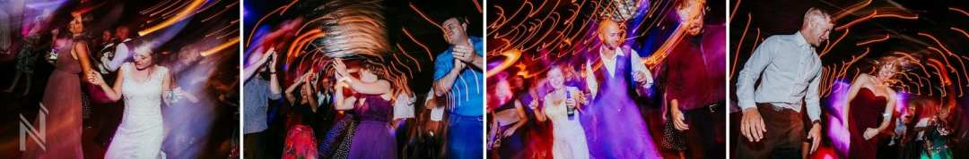 Off Broadway Reception Venue wedding reception dancing with light effects