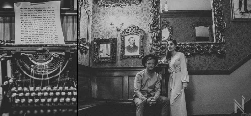 Engagement photography at iconic Stanley Hotel in Estes Park Colorado