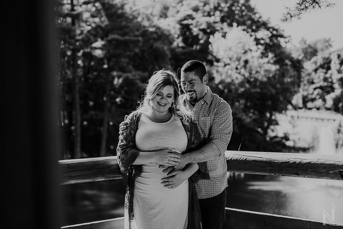 Maternity Photography at The Gardens at SIUE Edwardsville