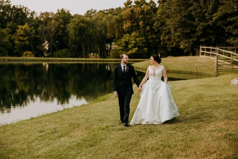 Romantic Wedding Photography at Sunset at Loveland Estates by North Arrow Creative