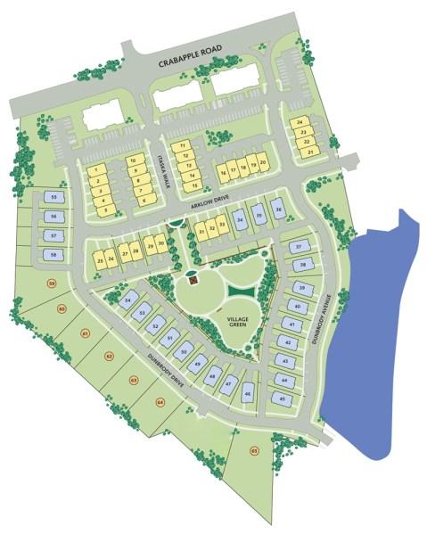 Waterford Homes In Alpharetta Crabapple Station Community