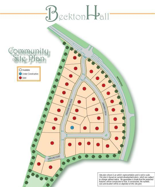 Beckton Hall Community Site Plan Alpharetta GA