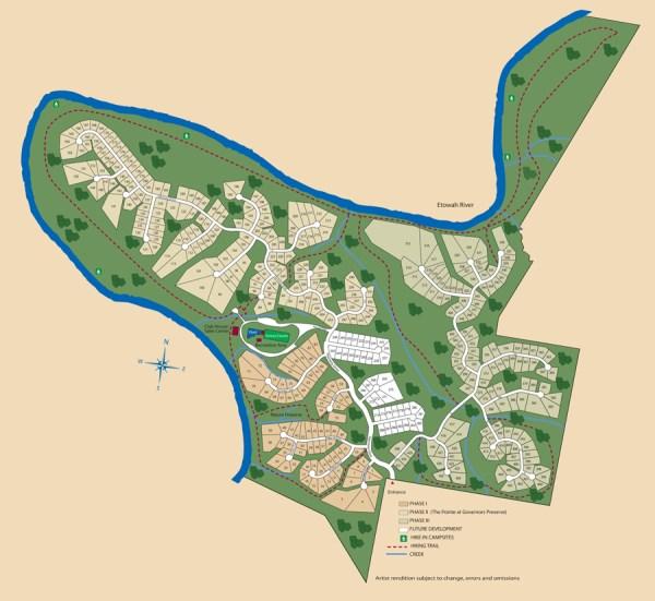 Governors Preserve Canton GA Site Plan