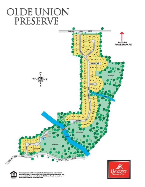 Alpharetta Homes Olde Union Preserve By Beazer