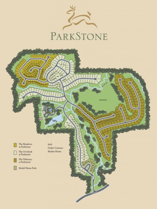 Parkstone Cumming GA Community Site Map
