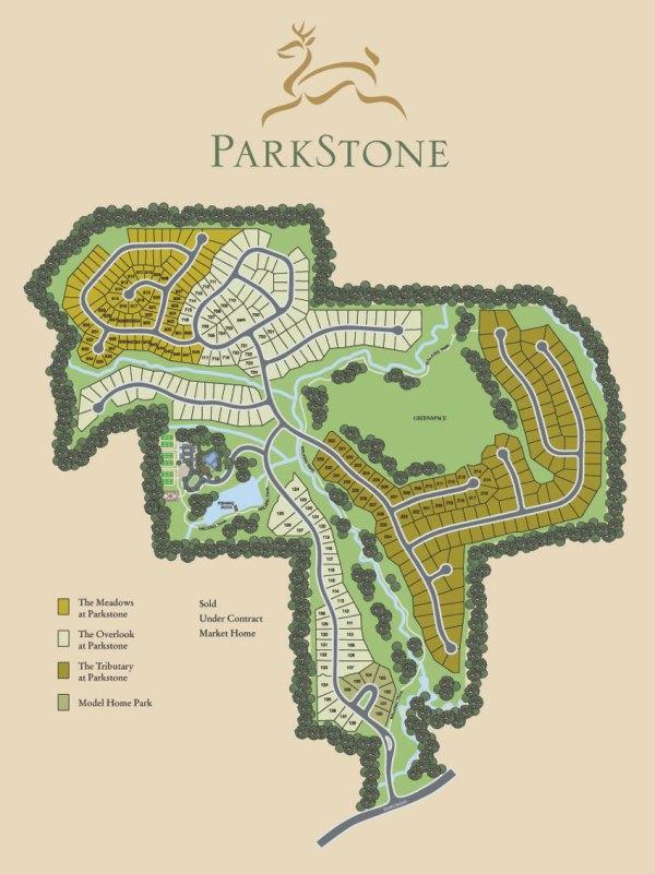 Parkstone Cumming GA Community Site Map