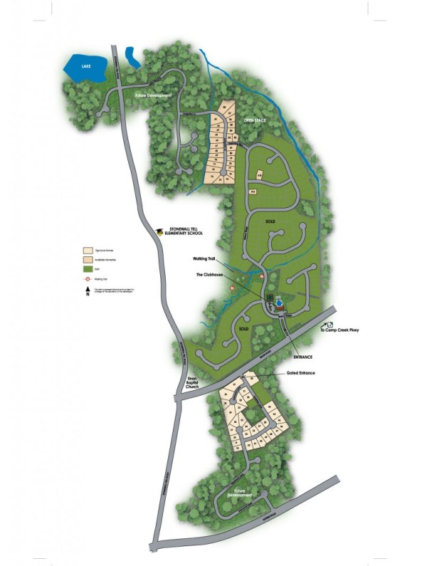 Regency Oaks Atlanta Georgia Community Site Plan