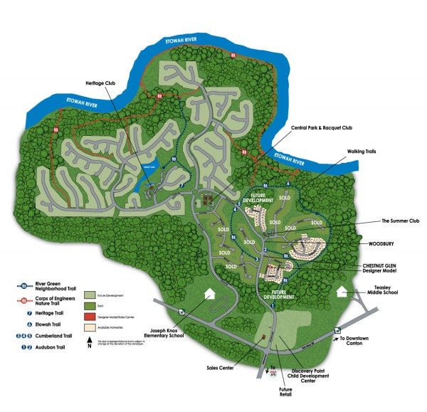 River Green Canton Georgia Community Site Plan