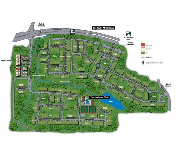 Heritage At Roswell Site Plan Of Community