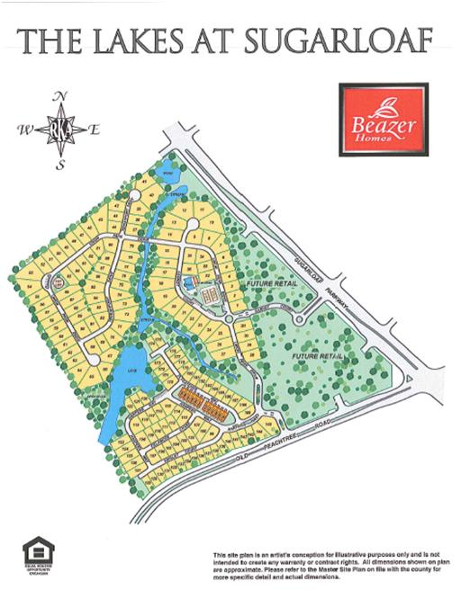 The Lakes At Sugarloaf Beazer Community SIte Plan
