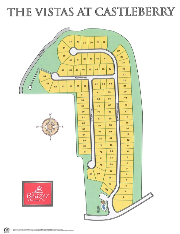 The Visitas At Castleberry Site Plan GA