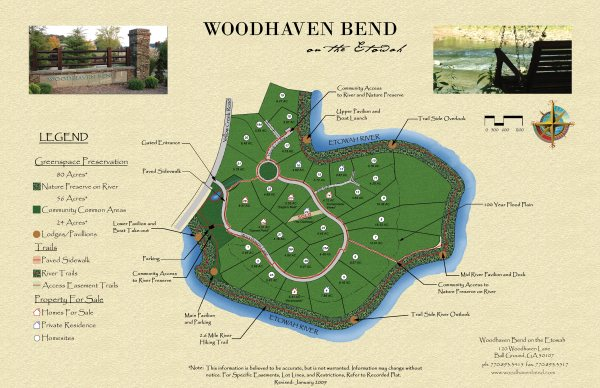 Site Plan Woodhaven Bend On The Etowah