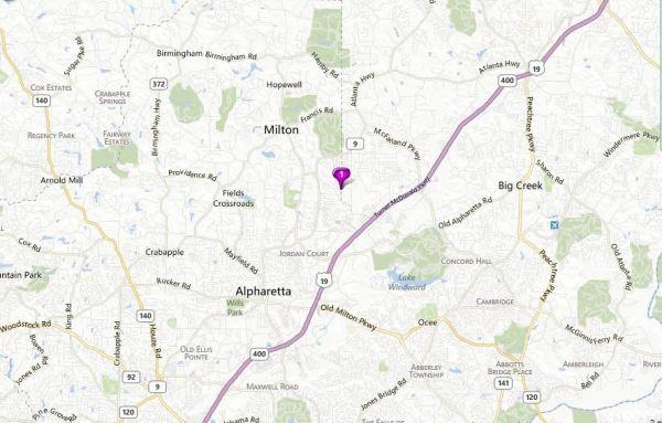Map Location Milton Belleterra Community