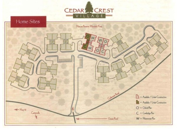 Acworth GA Cedarcrest Village Home Sites