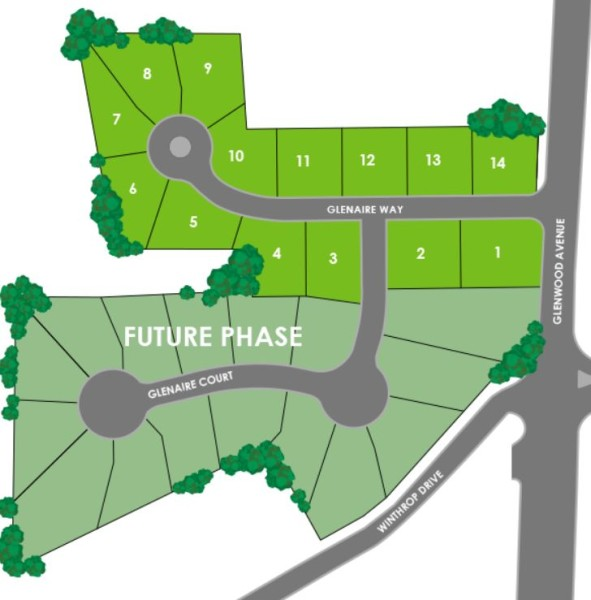 Atlanta Georgia Glenaire SIte Plan