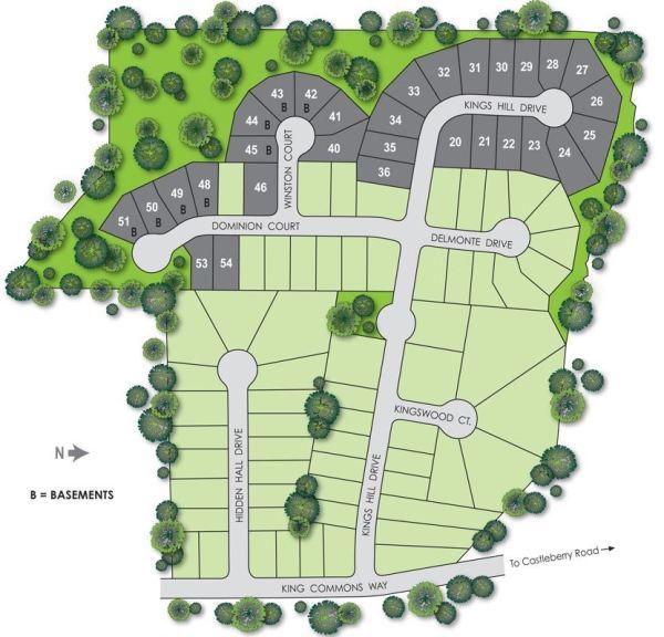 JEH Home Builder Kingswood Cumming Georgia Site Plan