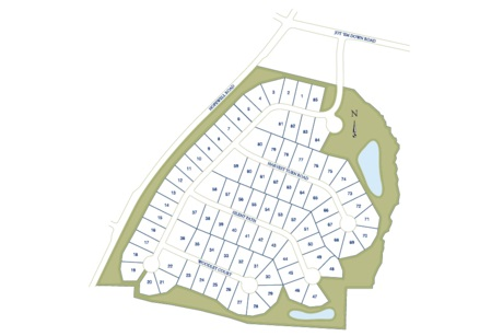 Cumming GA Neighborhood Site Plan For Quail Hollow