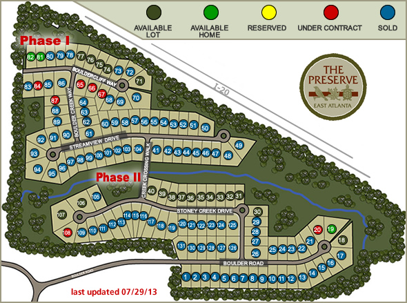 Atlanta Site Plan Community The Preserve East Atlanta