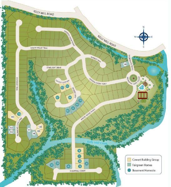 Cumming Georgia Neighborhood Site Plan